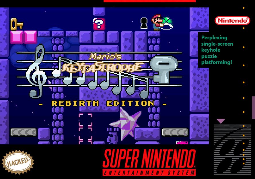 Box Art: Mario's Keytastrophe: Rebirth Edition